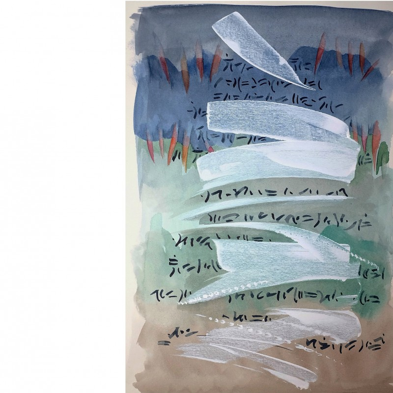"""Giovanna Mancuso """"Watercolor n°12""""  watercolor, ink and acrylic on paper 34.5x24.5 cm"""
