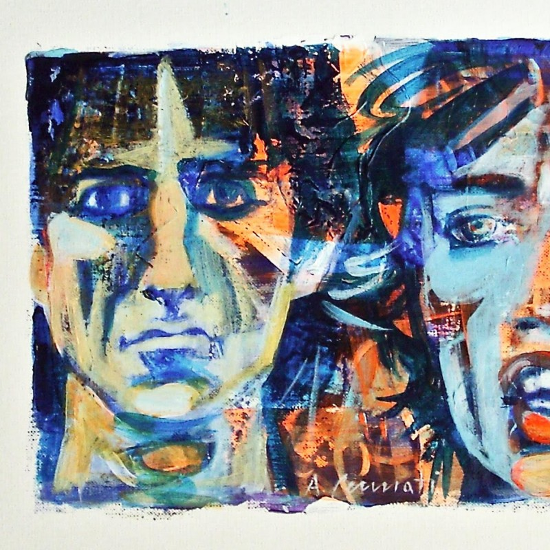 Mick Jagger and Keith Richard's portrait painted by the respected Italian artist, Anna Pennati with special dedication