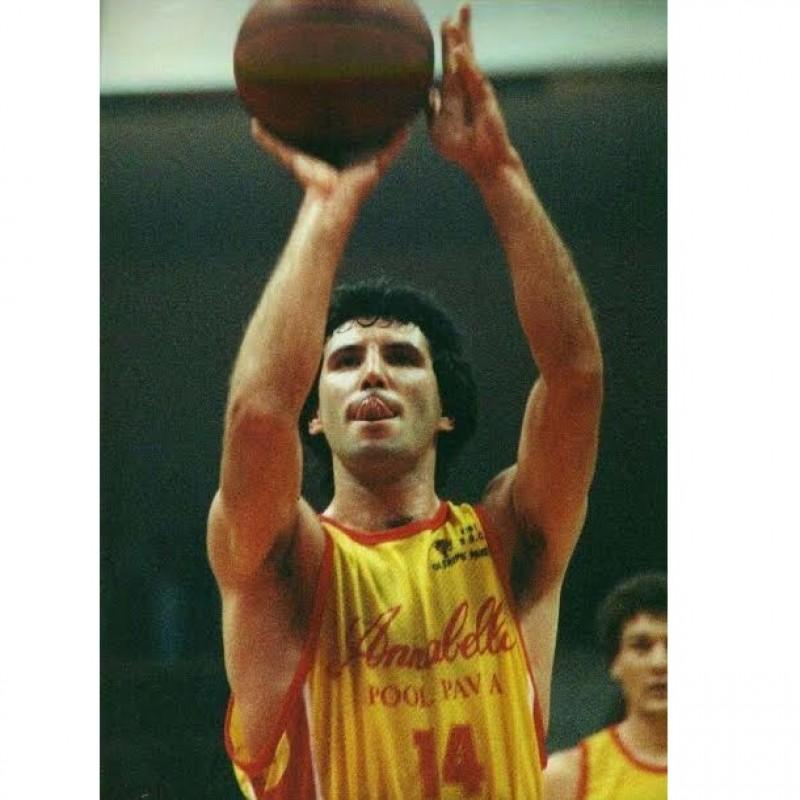 Lock's Annabella Pool Pavia Basketball Match-Worn Shirt from the Serie A2 1989/90 Season