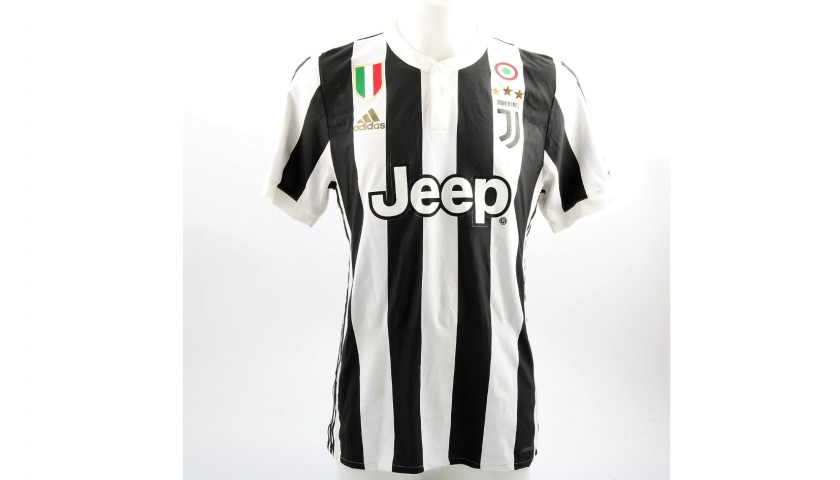 6314fb73b Matuidi s Worn and Unwashed Juventus-Bologna Shirt with 120 anni FIGC Patch  - CharityStars