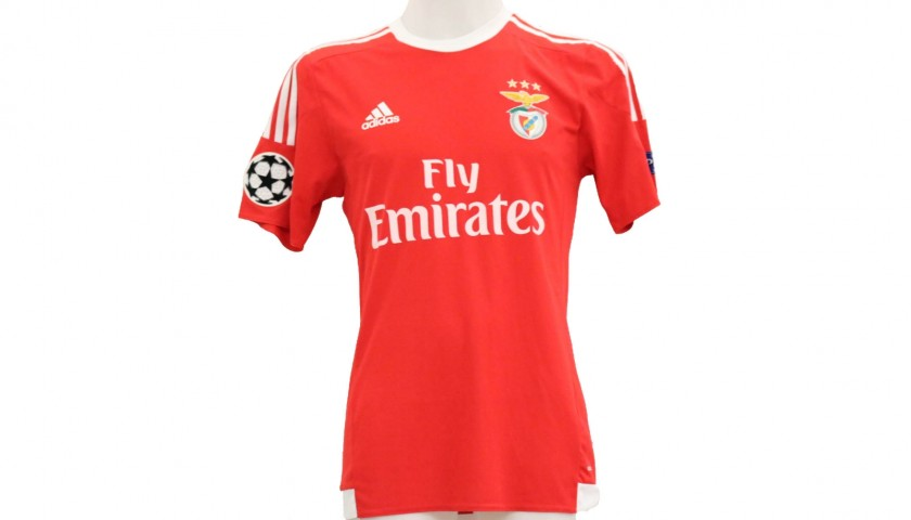 sale retailer 595f9 148f4 Jonas' Benfica Worn Shirt, UCL 2015/16 - CharityStars