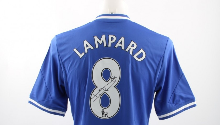 the latest e1636 b9223 Official Replica Chelsea 2013/14 Shirt Signed by Frank Lampard -  CharityStars