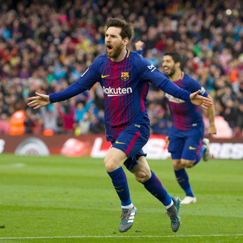 Messi's Barcelona Match Shirt, Liga 2017/18