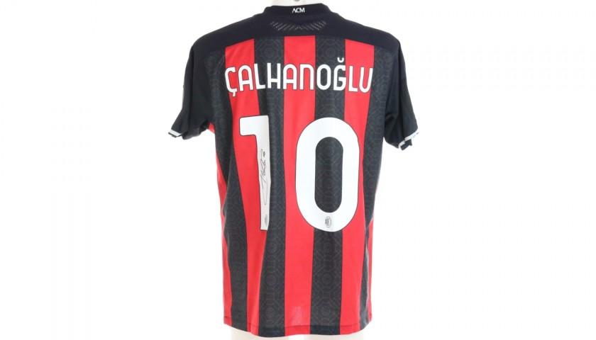 Calhanoglu's Worn and Signed Shirt, Milan-Crotone 2021