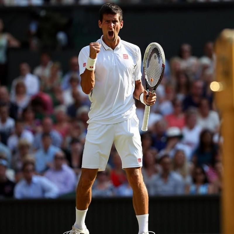 Uniqlo Shirt Signed by Novak Djokovic