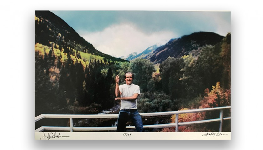 Signed Jack Nicholson Print by Bobby Klein