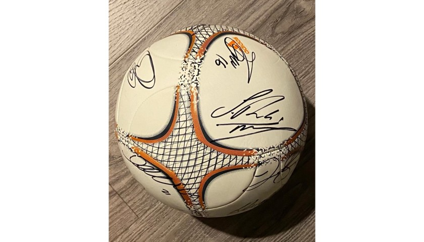 Official Real Madrid ball signed by UCL Champions 2016-17-18
