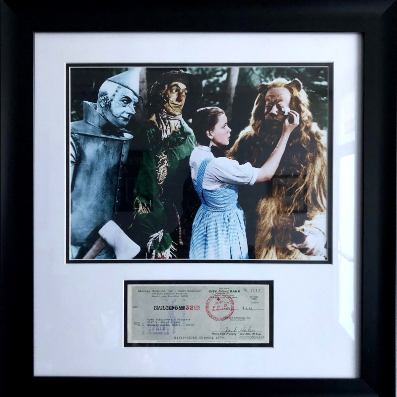 """""""The Wizard of Oz"""" Framed and Signed Photo"""