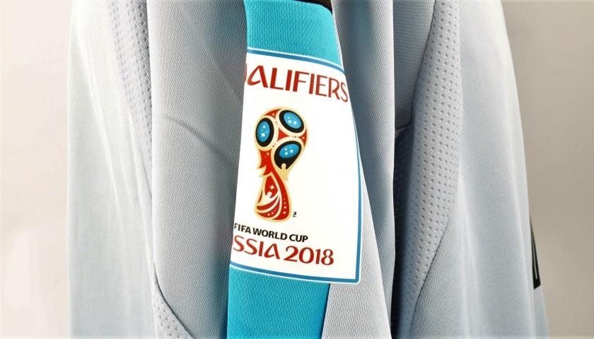 Donnarumma's Match Shirt, Italy-Albania 2017 + Bib