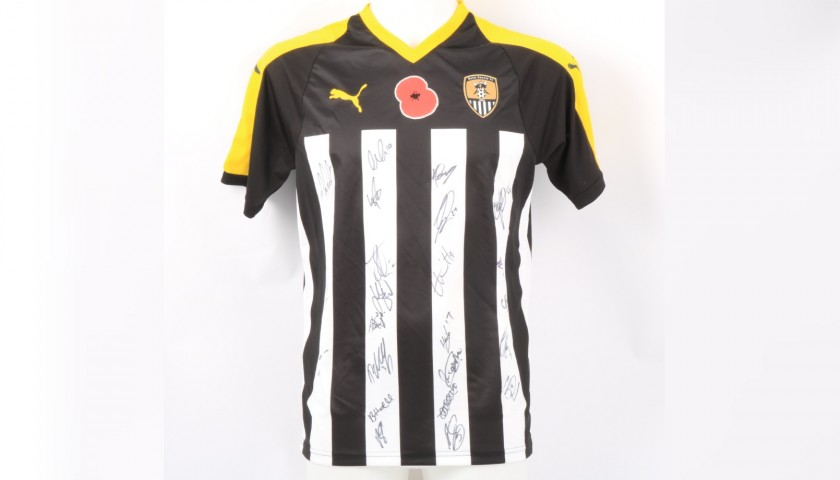 Notts County Official Poppy Shirt Signed by the Team