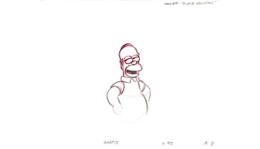 The Simpsons - Original Drawing of Homer Simpson