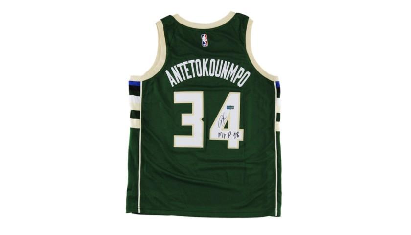Giannis Antetokounmpo Hand Signed Milwaukee Bucks Jersey
