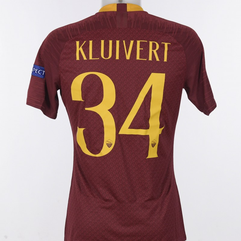 Kluivert's Match-Issue Shirt, Roma-Porto CL 18/19