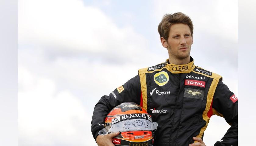 Official Lotus Cap - Signed by Romain Grosjean