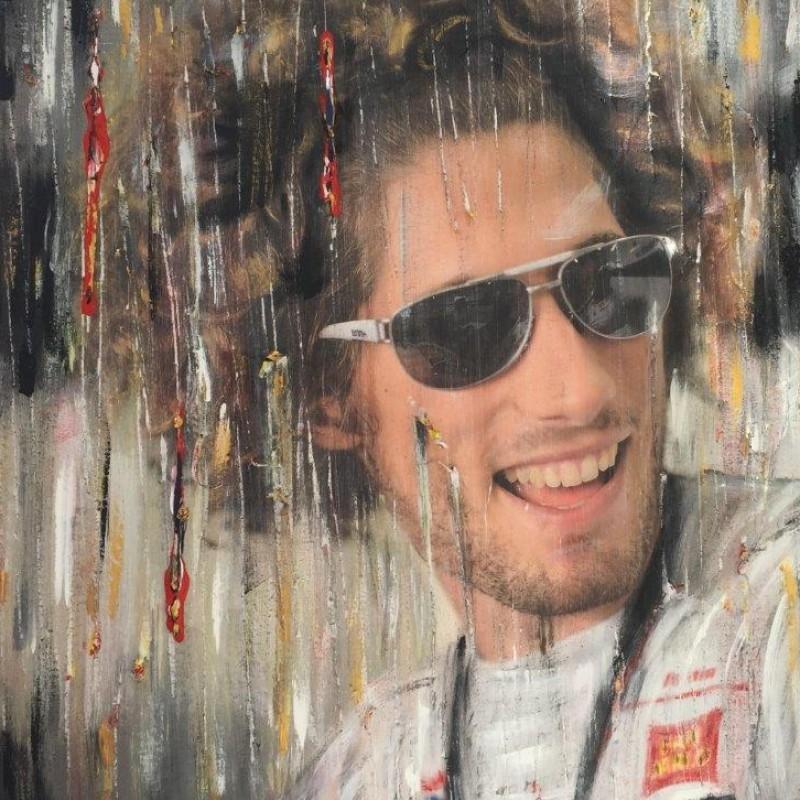 """Exclusive """"Marco Simoncelli"""" artwork, by the Italian artist Monica Cecchin"""
