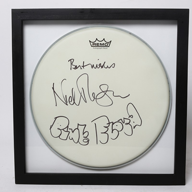 NICK MASON – Pink Floyd Signed Drum Head