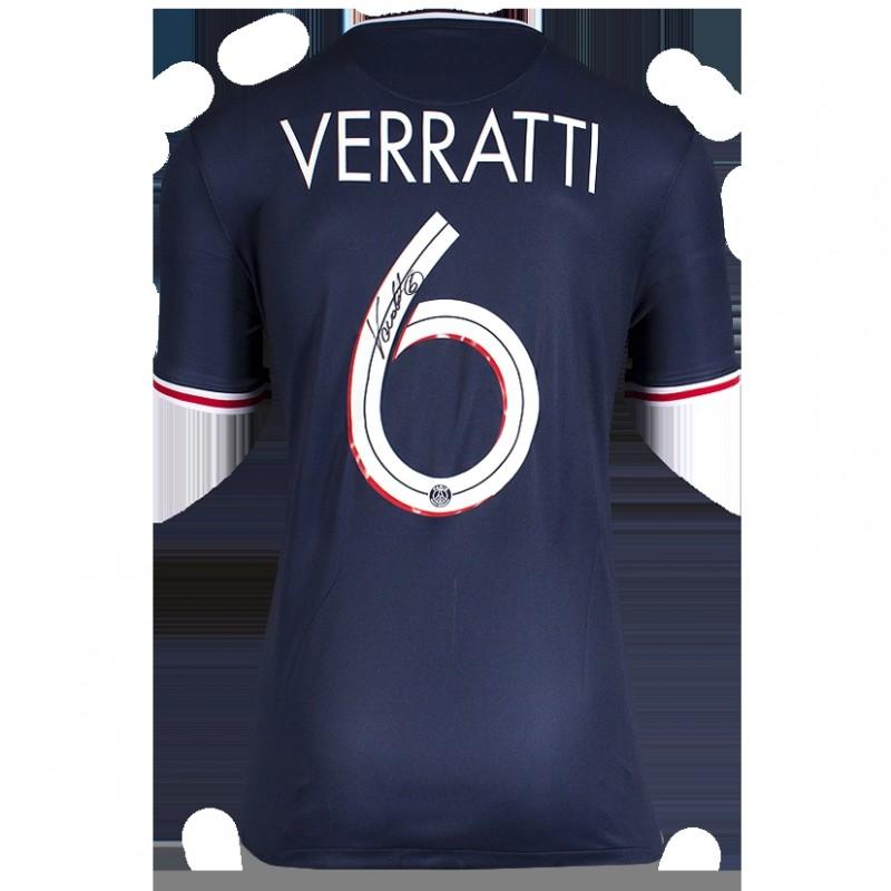 Marco Verratti Back Signed Paris Saint-Germain 2020-21 Home Shirt