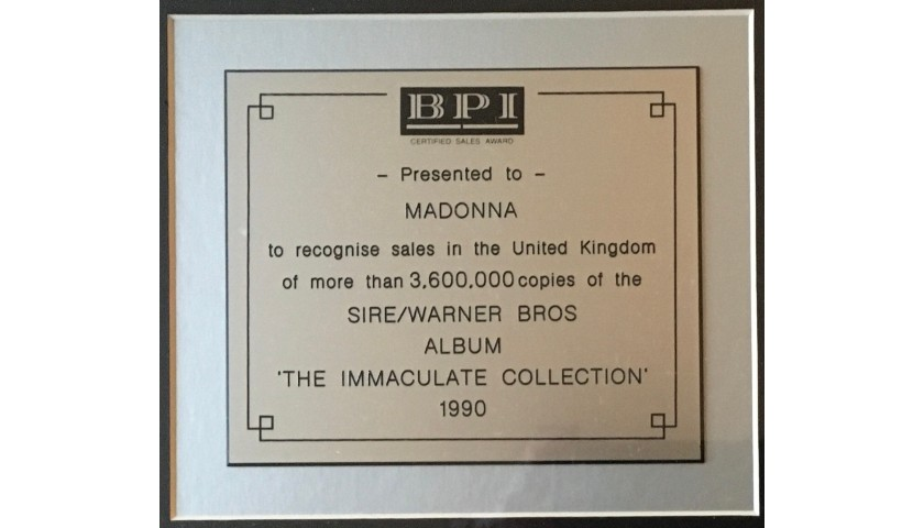 Madonna BPI Music Award