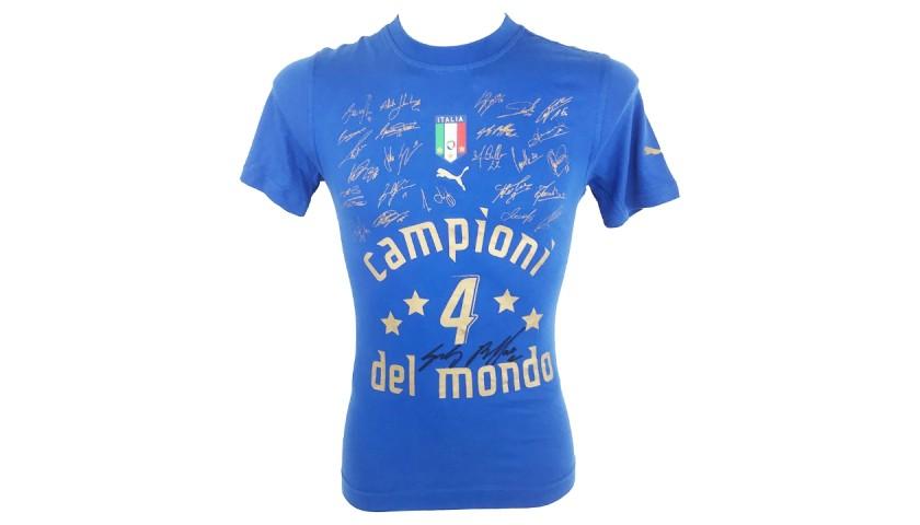 Buffon's Italy World Cup Winners 2006 Signed Shirt
