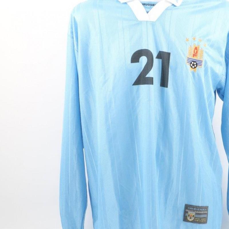 Sebastian Egueren's Uruguay match issued/worn shirt, Copa America 2001