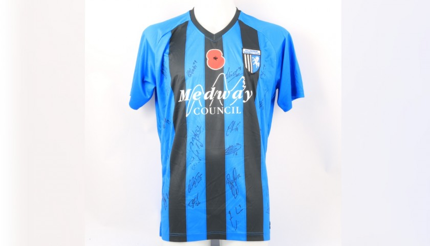 Gillingham Official Poppy Shirt Signed by the Team