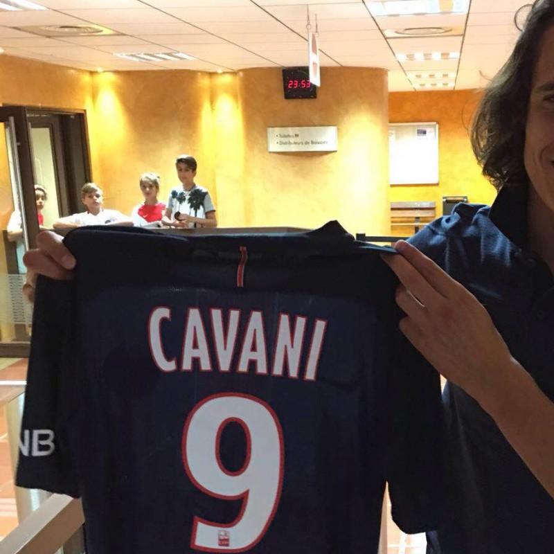 Match worn Cavani shirt, Monaco-PSG 28/08/16