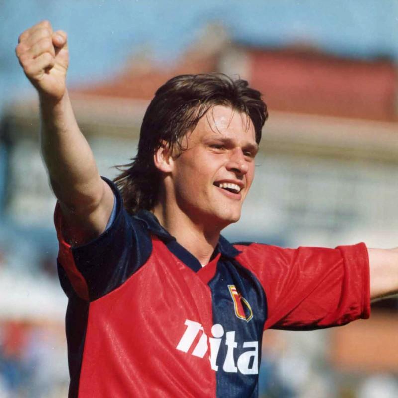 Genoa Retro Shirt - Signed by Skuhravy