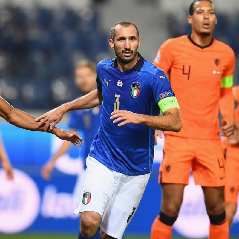 Chiellini's Match Shirt, Italy-Holland 2020