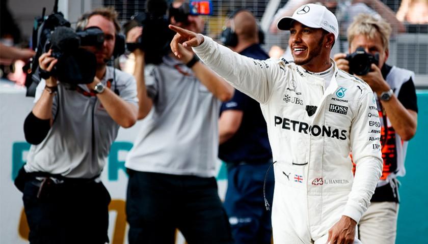 Lewis Hamilton's Signed 2017 F1 Race Suit Replica