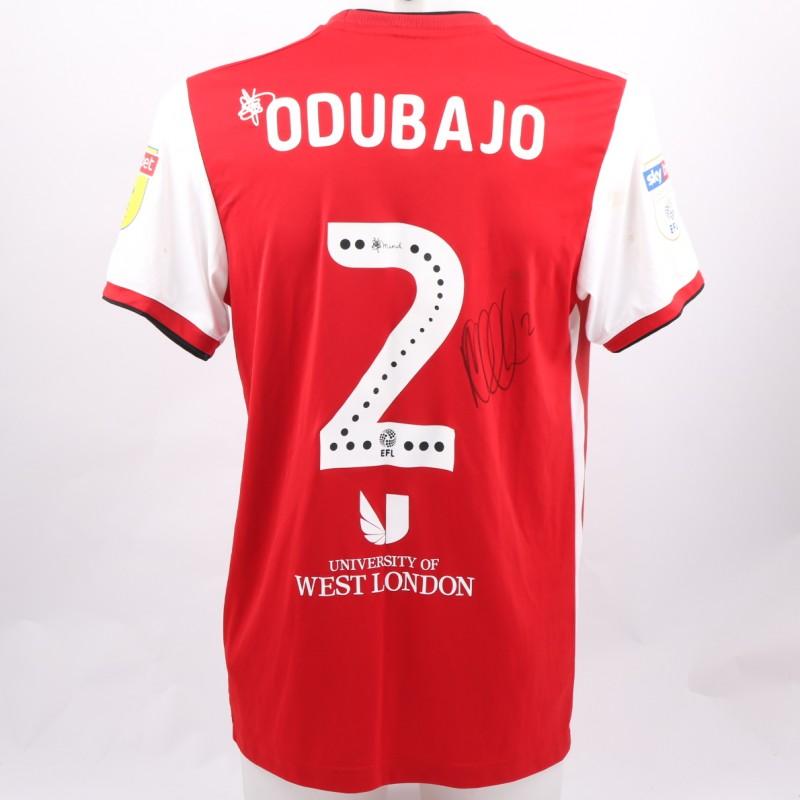 Odubajo's Brentford Worn and Signed Poppy Shirt