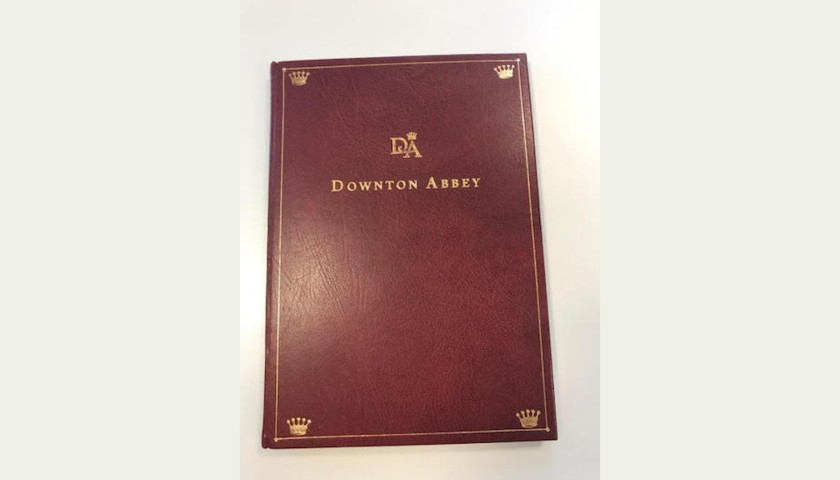 One of a Kind Leather Bound Signed Downton Abbey Episode 1 Series 1 Script