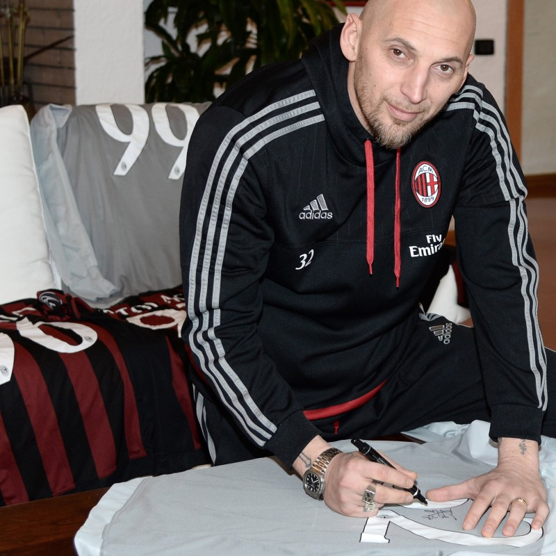 Abbiati issued shirt, Milan-Torino, Berlusconi 30th Anniversary - signed