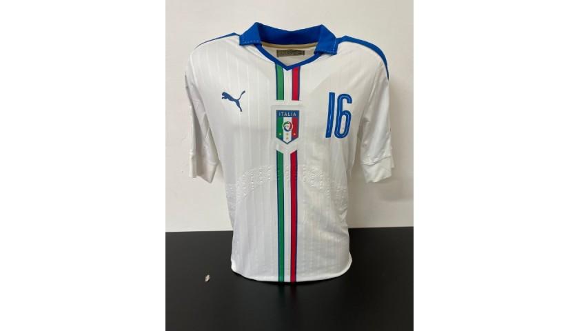 De Rossi's Italy Match Shirt, 2016