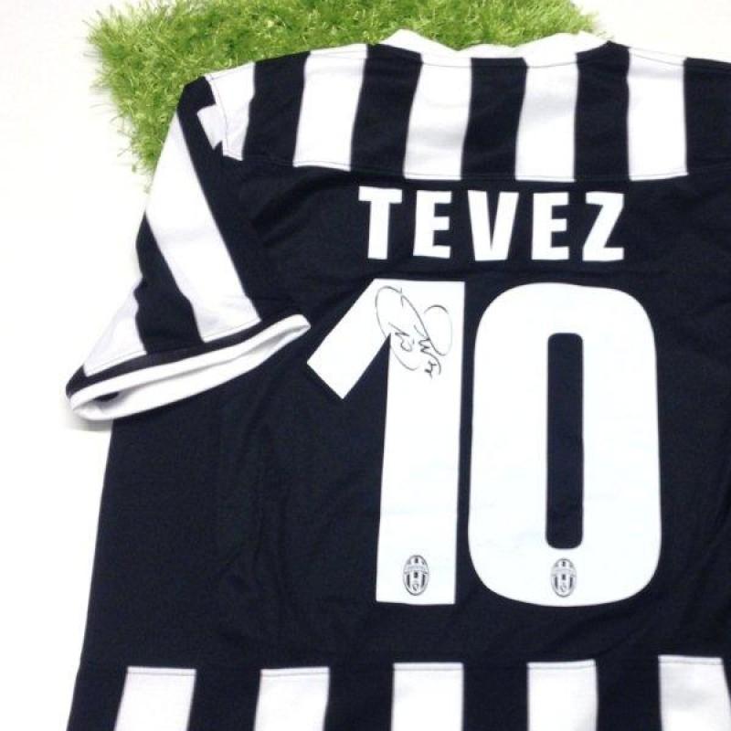 Juventus fanshop shirt, Carlitos Tevez, 2013/2014 - signed