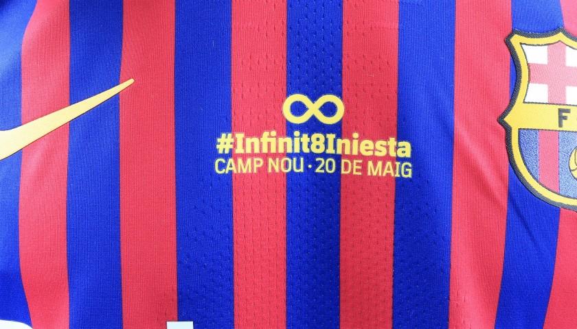 Messi's Barcelona Match Shirt, Iniesta Last Match 2018