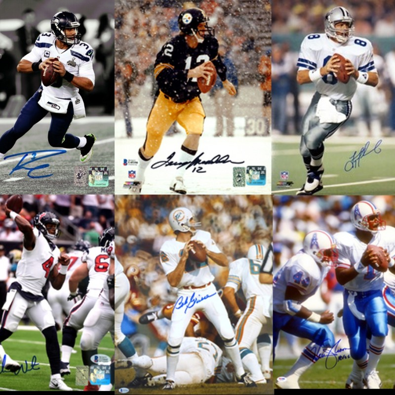 Quarterback Legends Mystery Box: Hand Signed Photograph