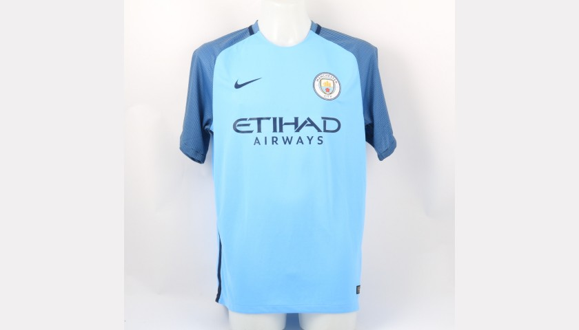 Silva's Official Manchester City Signed Shirt