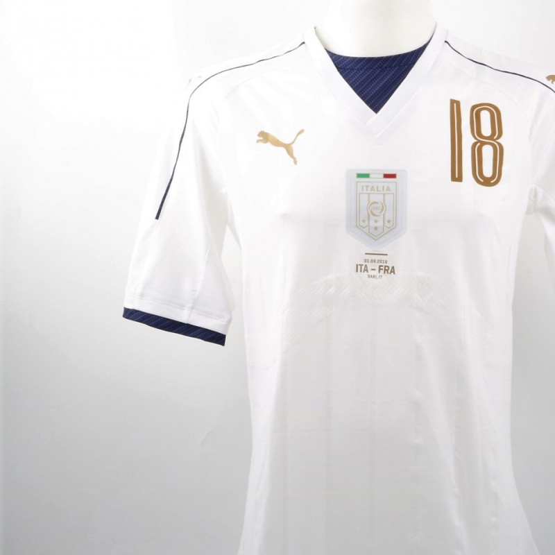 Montolivo Match issued/worn shirt, Italy-France 01/09/2016