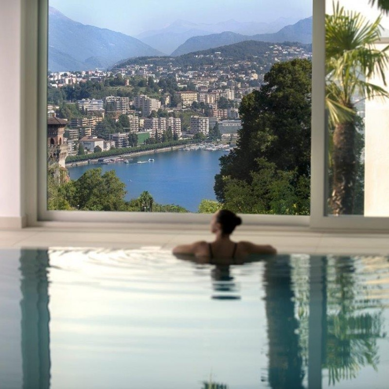 Entries plus personal trainer at The View Hotel SPA in Lugano, Switzerland
