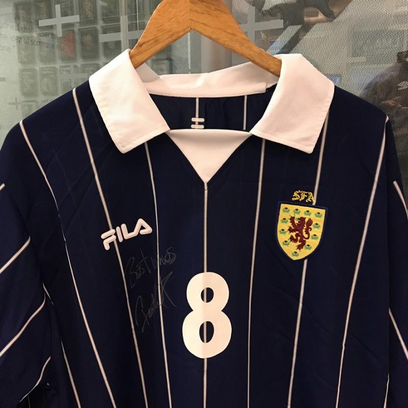 Paul Lambert donates signed Scotland football shirt