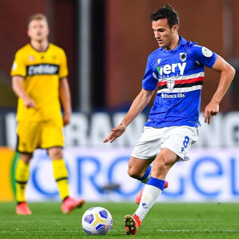 Verre's Worn Shirt, Sampdoria-Parma 2021 - Special Patch