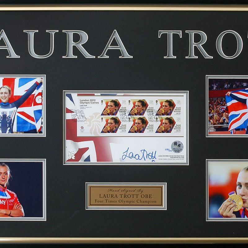 Laura Trott Signed Cycling FDC Presentation London 2012 Olympics