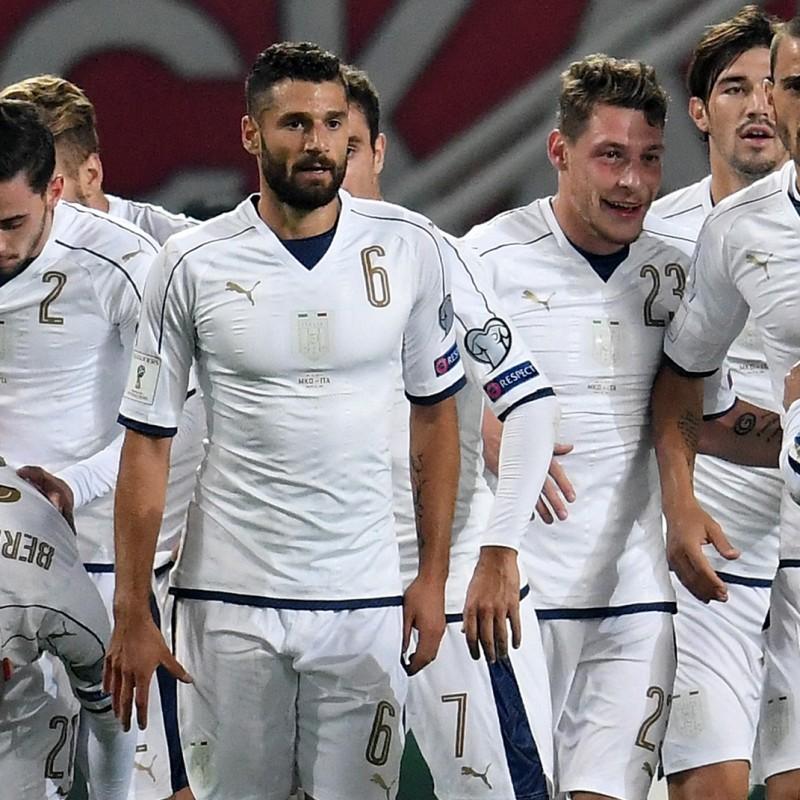 Candreva Match issued/worn shirt, Macedonia-Italy 9/10/16