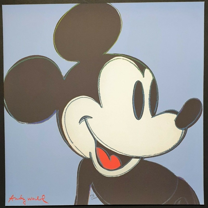 """""""Mickey Mouse"""" Andy Warhol Original Lithograph"""