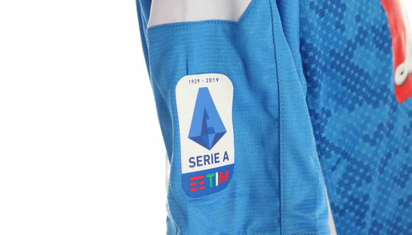 Mertens' Official Napoli Shirt - Signed by the Squad