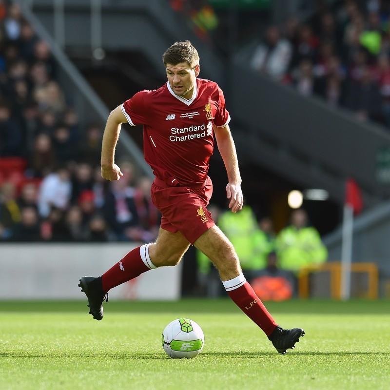 e0be2954e Steven Gerrard Signed Liverpool FC 125 Home Shirt