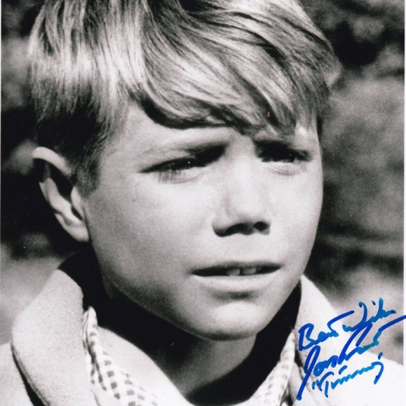 """Jon Provost Signed Photograph - Timmy in """"Lassie"""""""