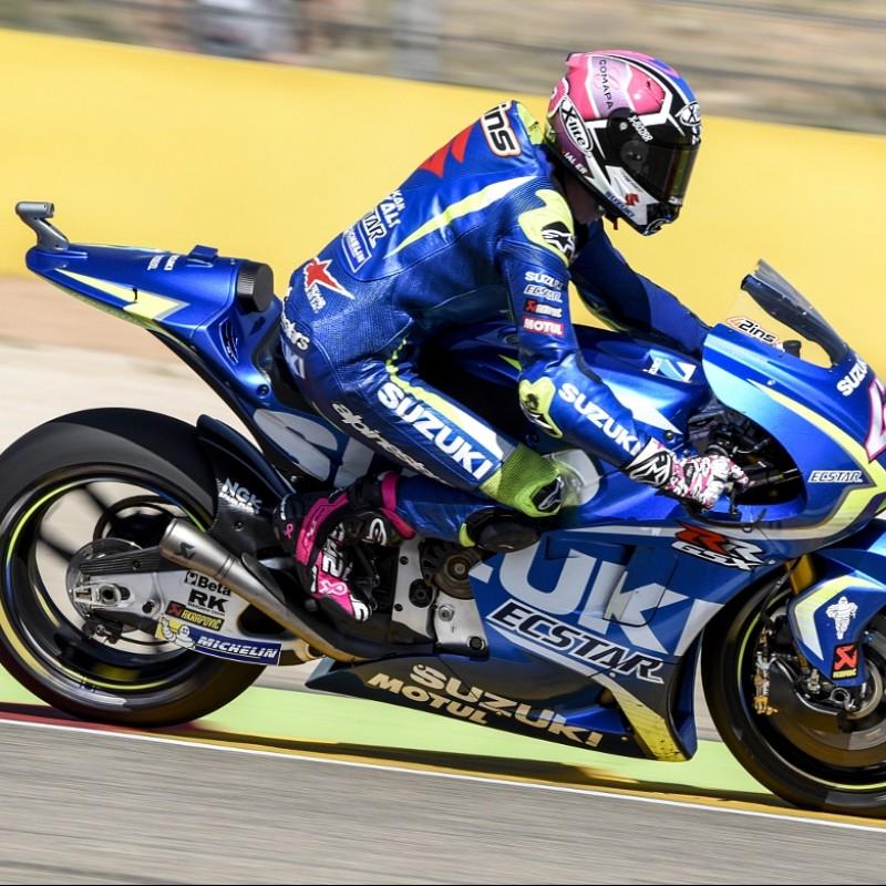 Alex Rins' #PinkRacing Boots Worn at Aragon MotoGP