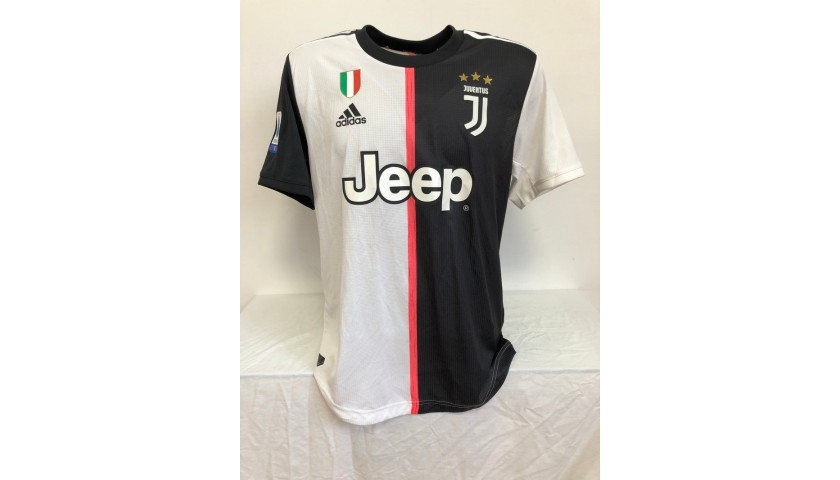 Rabiot's Worn and Unwashed Shirt, Juventus-Lazio 2020