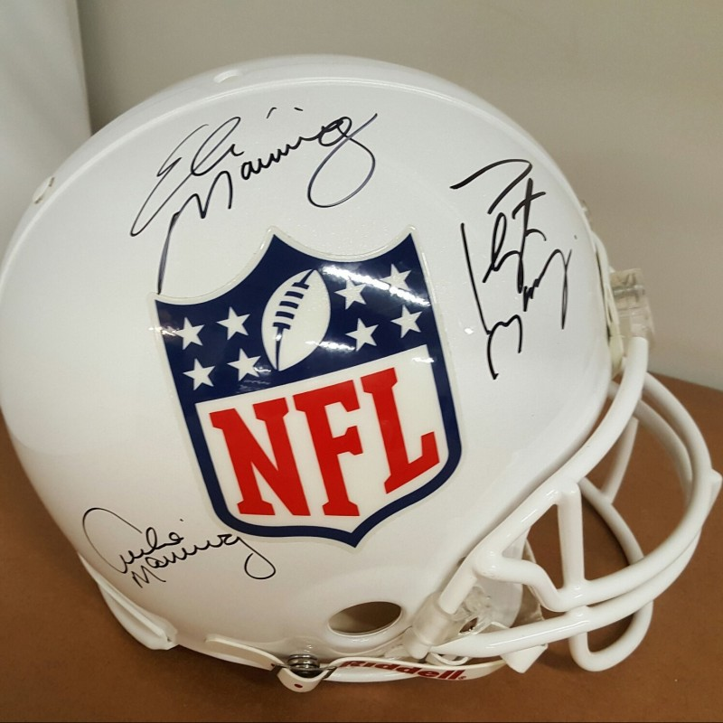 Mannings Signed NFL Helmet